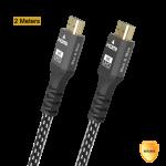 HDMI TO HDMI 8K ULTRA HIGH SPEED 48Gbps PREMIUM ALUMINUM 2M