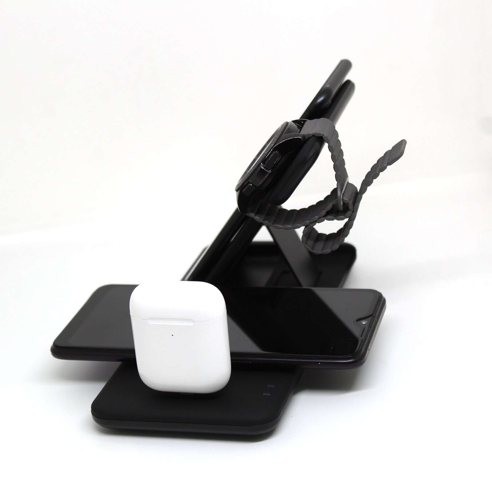 Dual Wireless Charging Stand 4in1